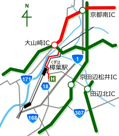 ゴルフ工房 オネスト 大阪府枚方市 東海方面からの地図